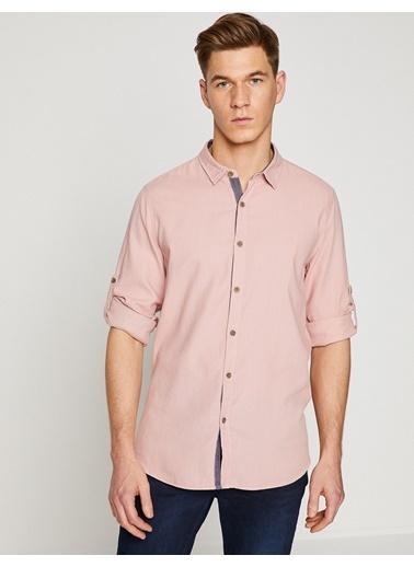 Slim Fit Uzun Kollu Gömlek-Koton